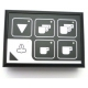HQ367-CLAVIER CAFE/VAPEUR LEDS VERTES RUMBA