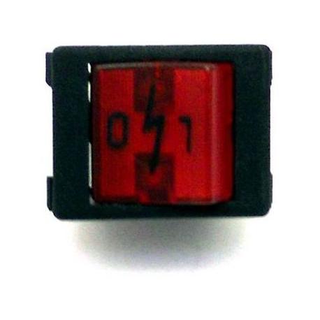 HQ362-INTERRUPTEUR ON/OFF 230V ROUGE ORIGINE UNIC
