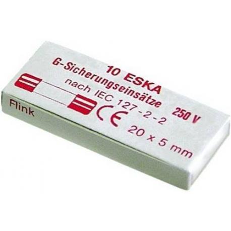 TIQ8239-LOT DE 10 FUSIBLES 5X20 125MA