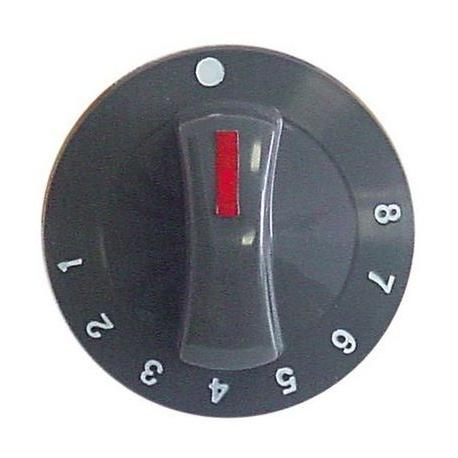 TIQ70135-MANETTE 1-8 D71MM AXE D6X4.6MM