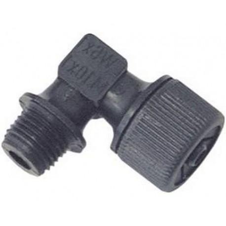 TIQ9887-RACCORD COUDE M10X1 INT:6MM