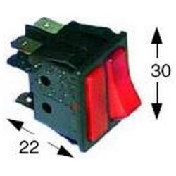 INTERRUPTEUR + VOYANT ROUGE 250V 16A TMAXI 125°C