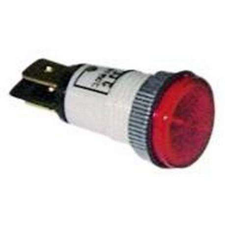 TIQ8345-LAMPE TEMOIN ROUGE 24V