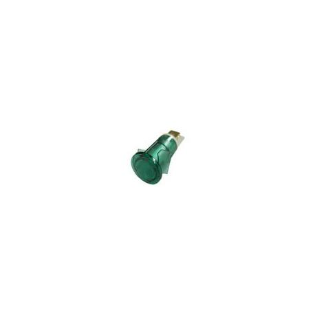 TIQ8450-VOYANT VERT í12MM 230V COSSES 6.3MM