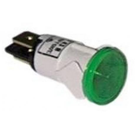 TIQ8482-VOYANT VERT 24V í13MM COSSES 6.3MM