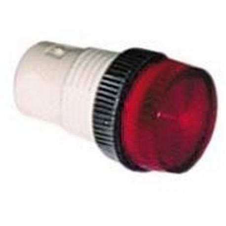 TIQ8491-DOUILLE POUR LAMPE D13MM ROUGE