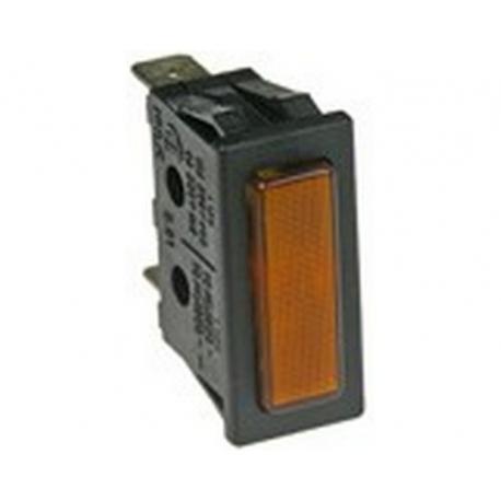 TIQ8422-VOYANT ORANGE 30X11MM 230V COSSES 6.3MM