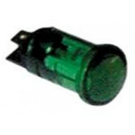 TIQ8438-VOYANT VERT 400V í16MM COSSES 6.3MM DOUILLE A VIS