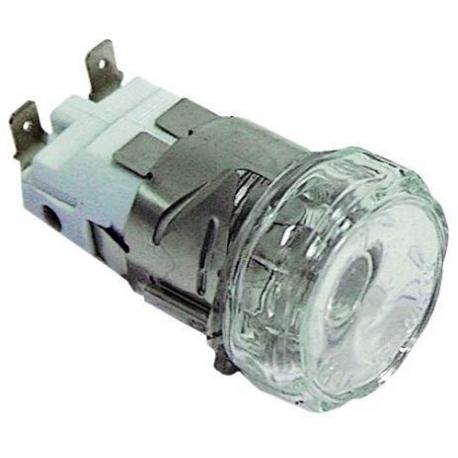 TIQ9679-LAMPE FOUR COMPLET VERRE PLAT