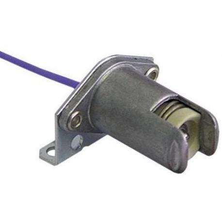 TIQ9687-DOUILLE R7S AVEC COUDE EXTERIEUR CABLE 230MM
