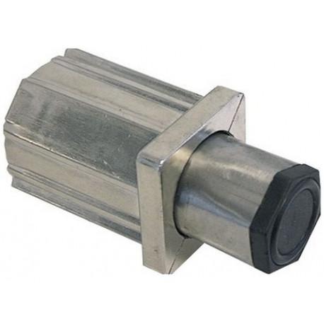 TIQ4437-VERIN ZAMAK NICKELE POUR TUBE 40X40 EMBOUT INOX