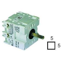 COMMUTATEUR ROTATIF 2 0-1 TYPE HD1602R000 600V 16A