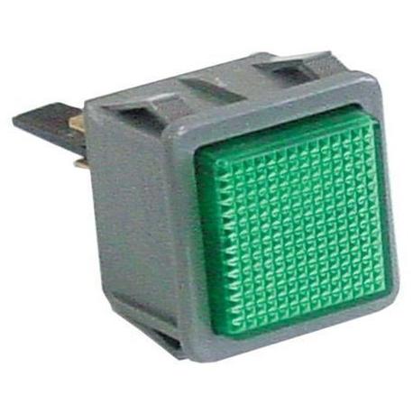 QUQ29-VOYANT 28.5X28.5MM VERT LUMINEUX 230V