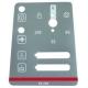 TIQ68654-AUTOCOLLANT PANNEAU COMMANDE