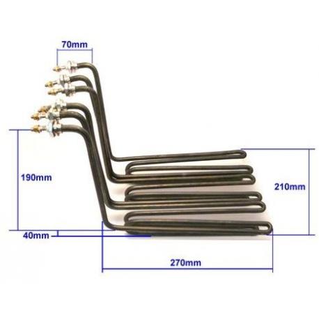 TIQ64029-LOT DE 3 RESISTANCES 3X 2000W 230V L:270MM L:73MM H:190MM
