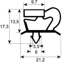 JOINT DE PORTE 1070X715MM GRIS ORIGINE IRINOX