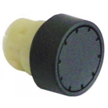 TIQ61680-BOUTON POUSSOIR NOIR D22MM