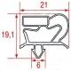 TIQ10793-JOINT MAGNETIQUE A ENCASTER POUR PORTE TAR PA