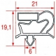 TIQ10706-JOINT MAGNETIQUE 185X402MM GRI
