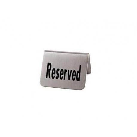RRI163-plaquette de table RESERVED