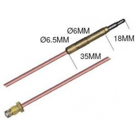 382-LOT DE 5 THERMOCOUPLES 1500MM