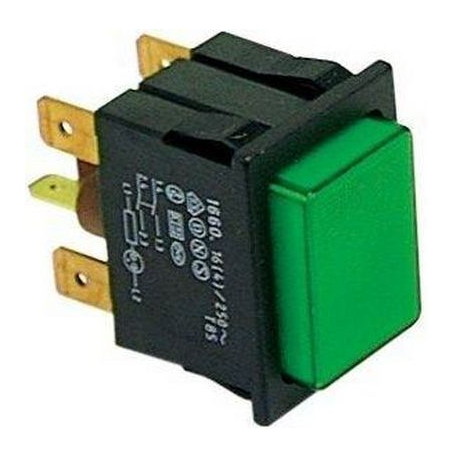 TIQ8739-POUSSOIR AVEC LAMPE 30X22MM 2 POLES LUMINEUX 250V 16A