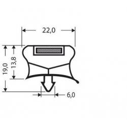 JOINT PVC A CLIPSER 2.55M GRIS