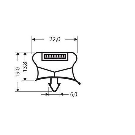 TIQ63847-JOINT PVC A CLIPSER 2.55M GRIS