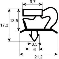 JOINT MAGNETIQUE POUR PORTE ARMOIRE L:1558MM L:648MM GRIS