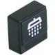TIQ8167-BOUTON POUSSOIR RINCAGE 23X23MM NOIR ORIGINE