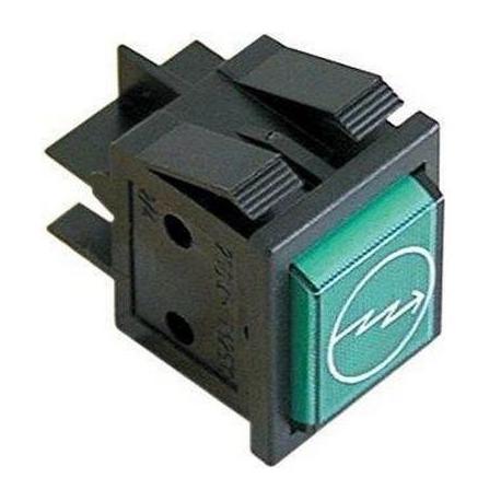 TIQ8349-VOYANT 230V VERT 30X22MM SYMBOLE ECLAIR