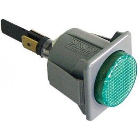 TIQ9502-VOYANT VERT 28.5X28.5MM 230V