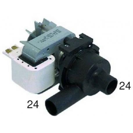 TIQ1332-POMPE DE VIDANGE 100W 230V 50HZ ENTREE 24MM SORTIE 24MM