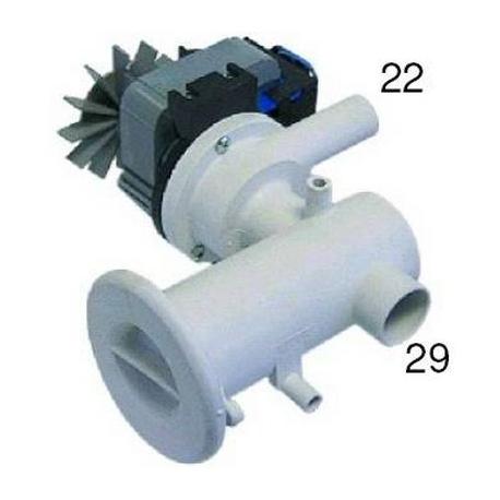 TIQ1334-POMPE PLASET AVEC FILTRE 90W 0.12HP 220V AC 50HZ ENTREE 30MM