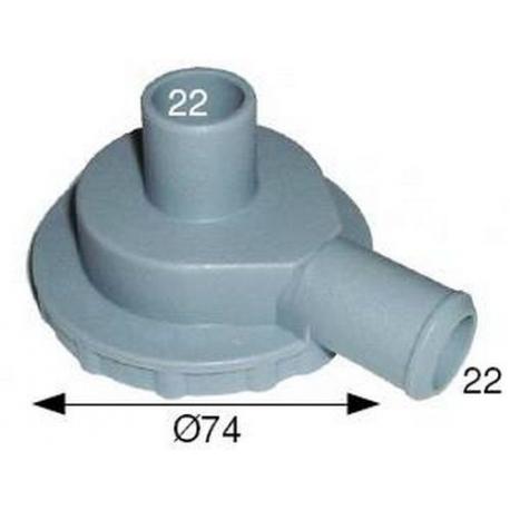 TIQ1434-FLASQUE DE POMPE 22X22 DROIT