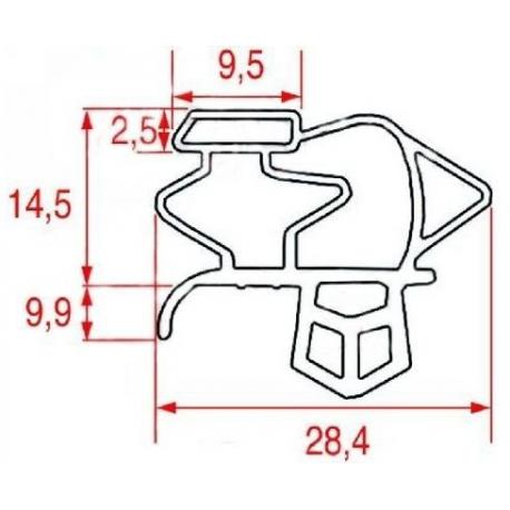 SEQ026-JOINT MAGNETIQUE A CLIPSER L:1520MM L:633MM