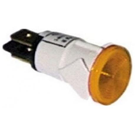 UQ450-VOYANT AMBRE 230V 13MM