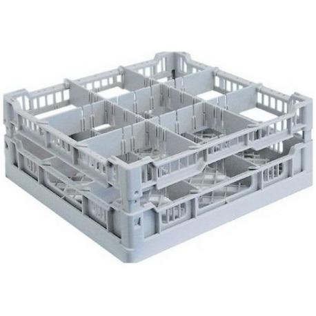ITQ409-PANIER 9 CASES 112X122MM L:400MM L:400MM H:65MM PLASTIQUE
