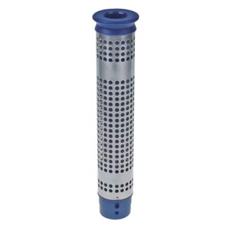 ITQ171-TUBE DE TROP PLEIN AVEC FILTRE POUR BONDE 1'1/2 H:300MM BLEU