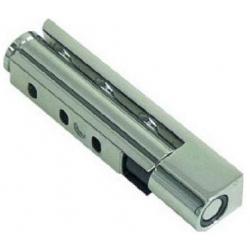 CHARNIERE ZAMAC CHROME G430 AVEC RAMPE L:130MM L:27M