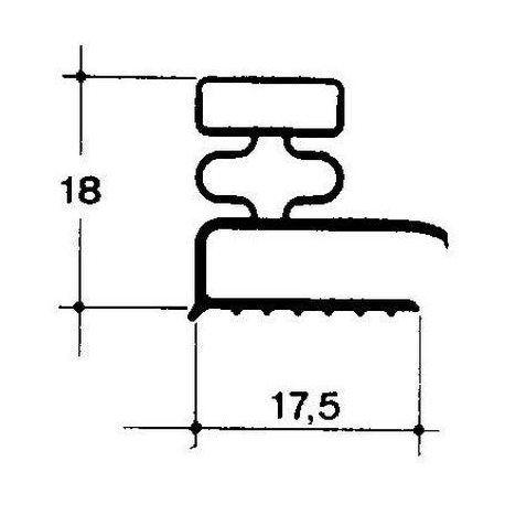 TIQ65131-JOINT DE PORTE L:610MM L:380MM