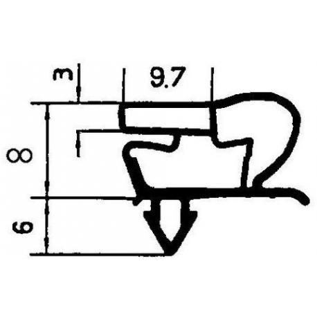 TIQ65320-JOINT DE PORTE VITREE675X1525M