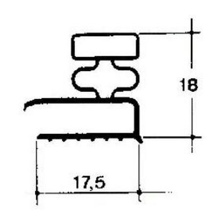 TIQ65258-JOINT DE PORTE BLANC LG:2.5M