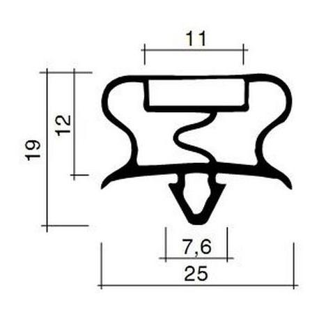 TIQ63734-JOINT PVC A CLIPSER BLANC 2.5M