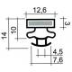 TIQ63844-JOINT PVC A CLIPSER GRIS 2.5M