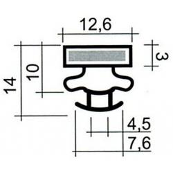 JOINT PVC A CLIPSER GRIS 2.5M