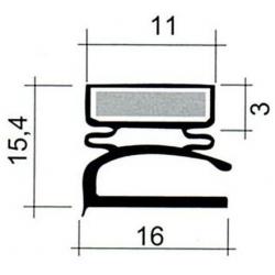 JOINT PVC PLAT BLANC L 2.55M