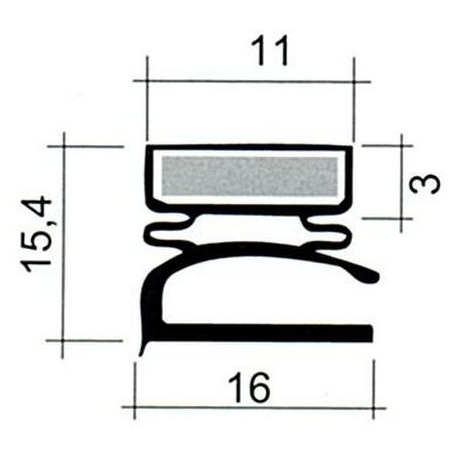TIQ63843-JOINT PVC PLAT BLANC L 2.55M