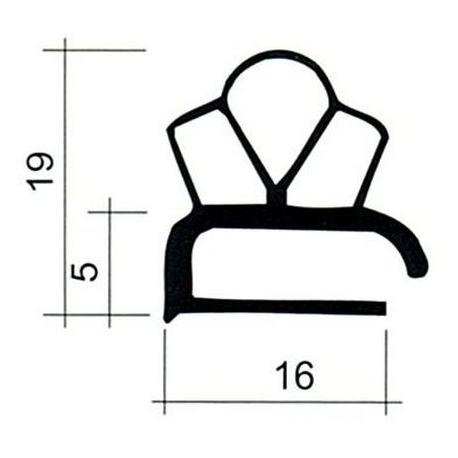 TIQ63956-JOINT PVC PLAT BLANC PAR 2.5M