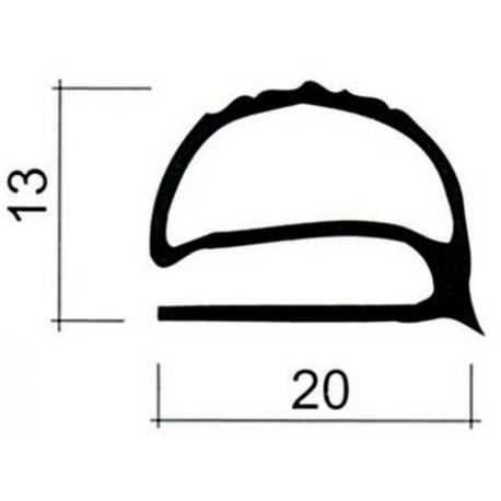 TIQ63955-JOINT PVC PLAT GRIS AU METRE